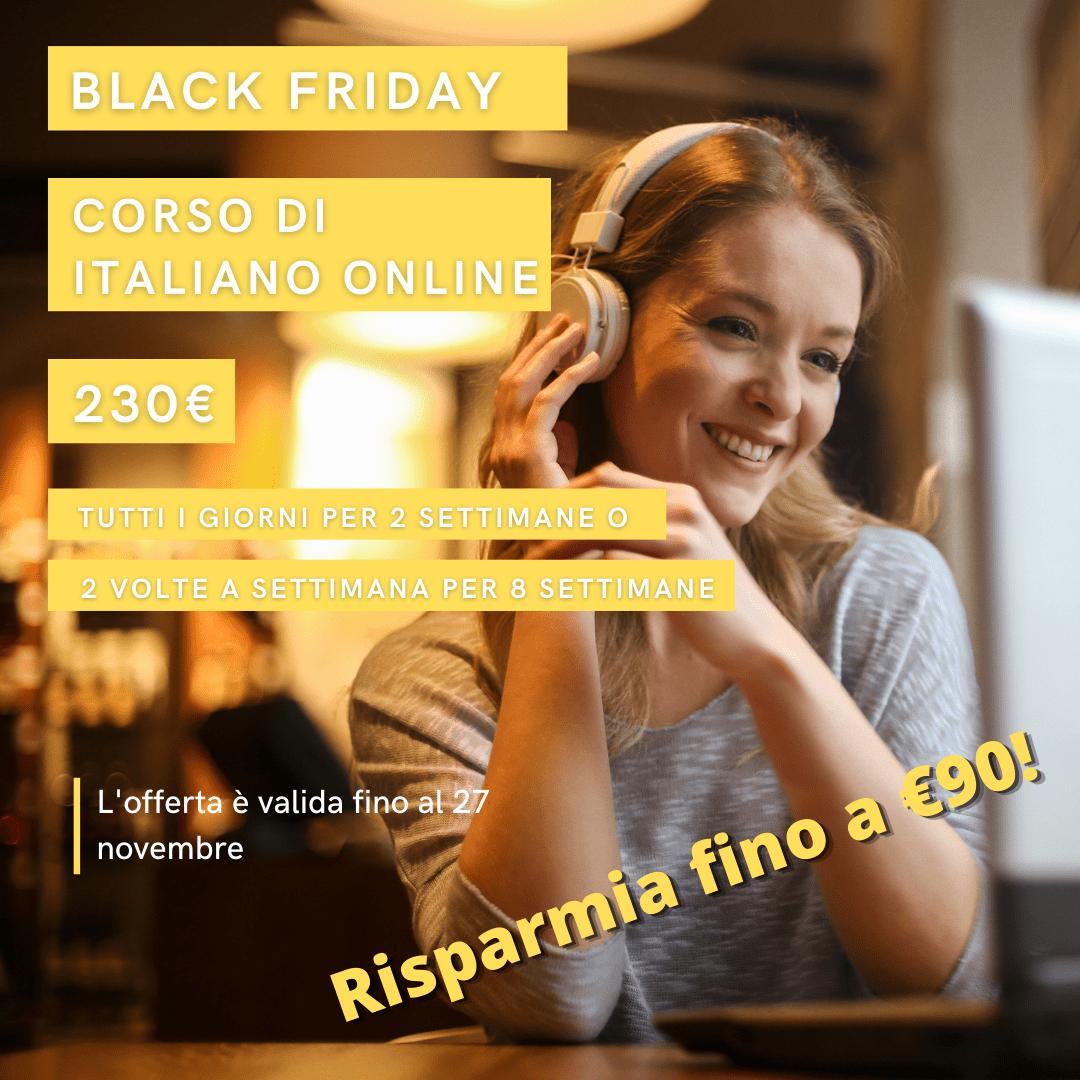 Offerta speciale per studiare italiano online