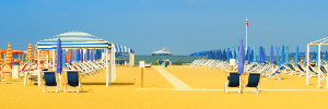 Learn Italian on the beach, in Viareggio, Tuscany