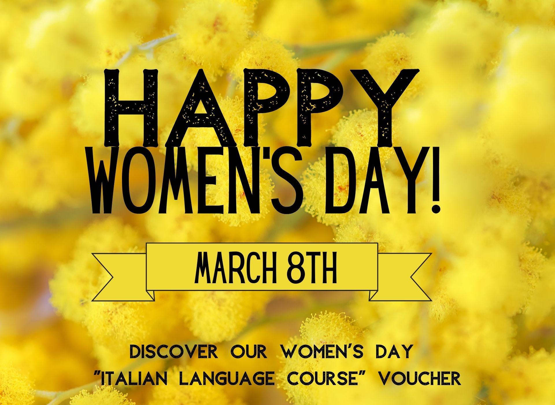 Women's Day Italian language course voucher