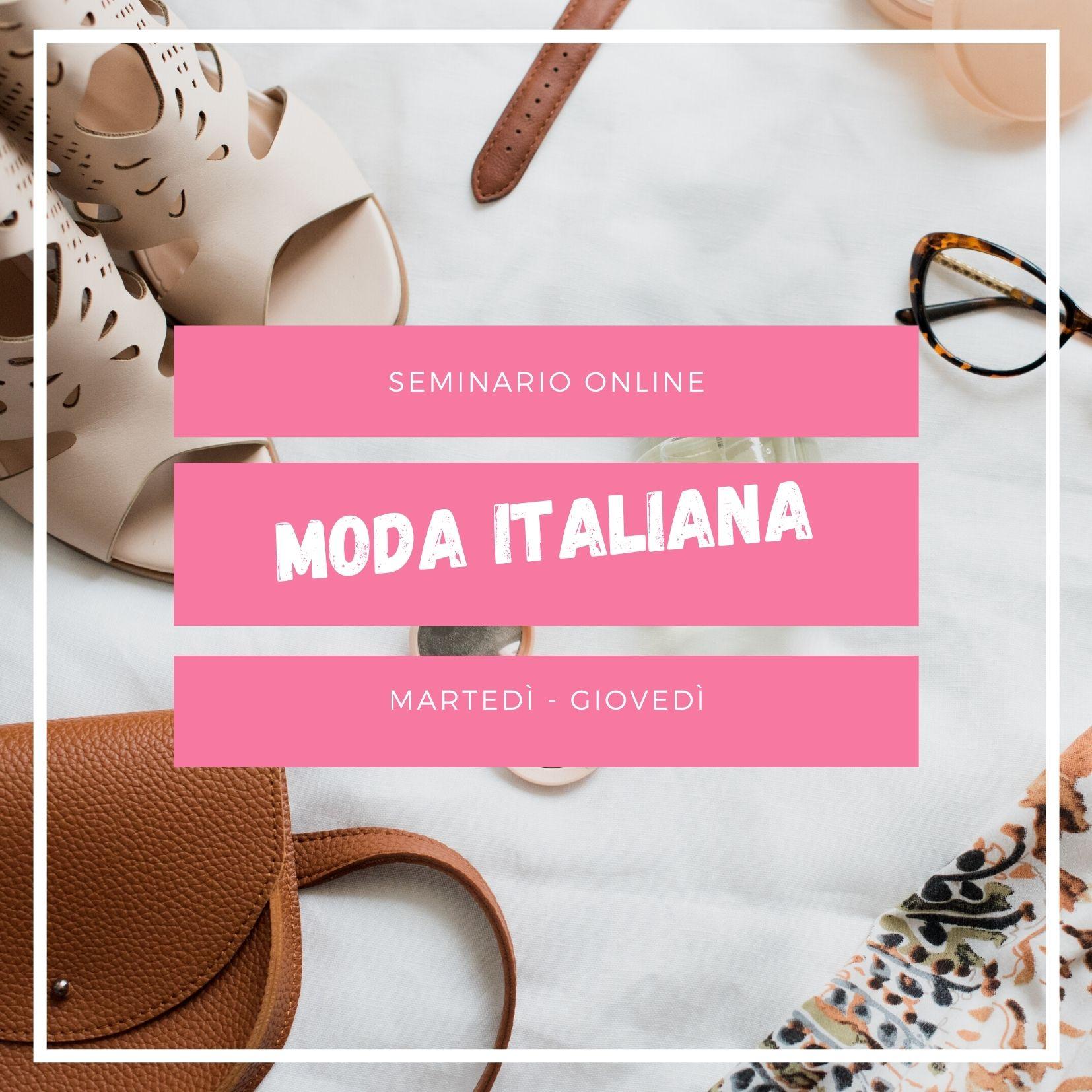 Seminario online di moda italiana