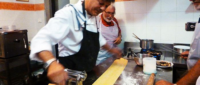 Italian cooking course in Italy