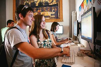 I nostri internet point, all'interno delle scuole Leonardo da Vinci