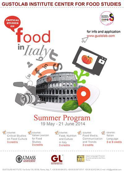Critical Studies on Food in Italy in Rome